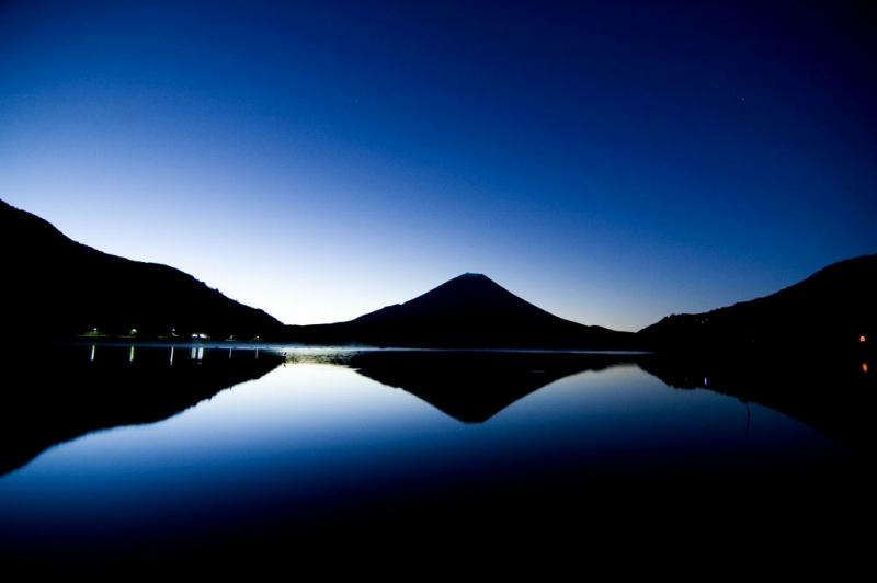 山梨県側の富士山