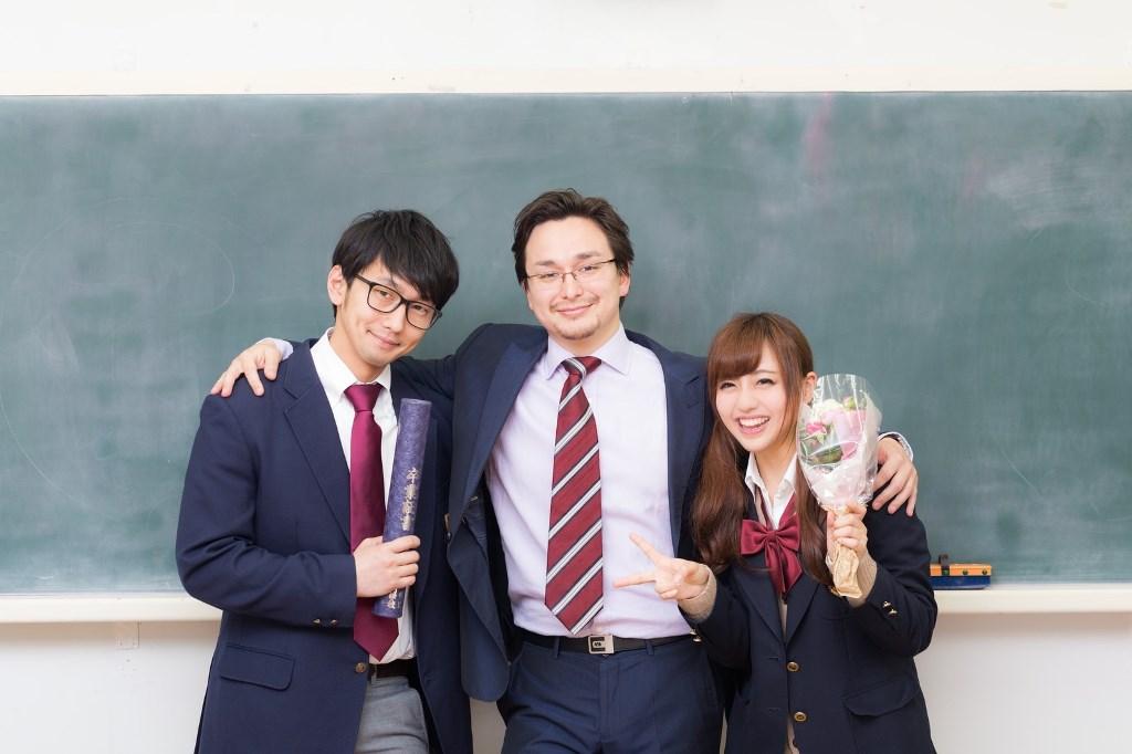 高校生と担任の教師