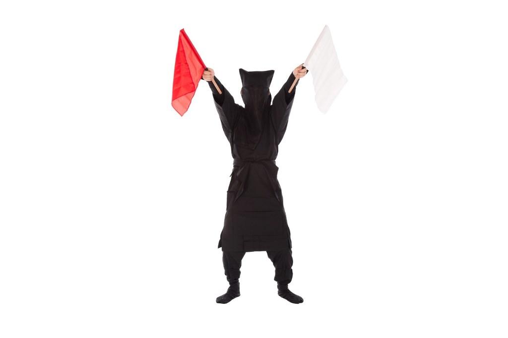 黒子の手旗信号
