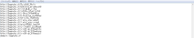 リンクの否認のファイル画面