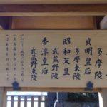 多摩御陵と武蔵野御陵