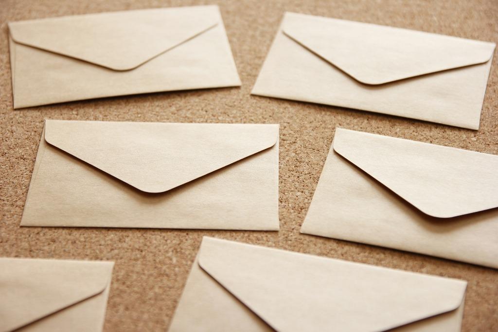 たくさんの封筒