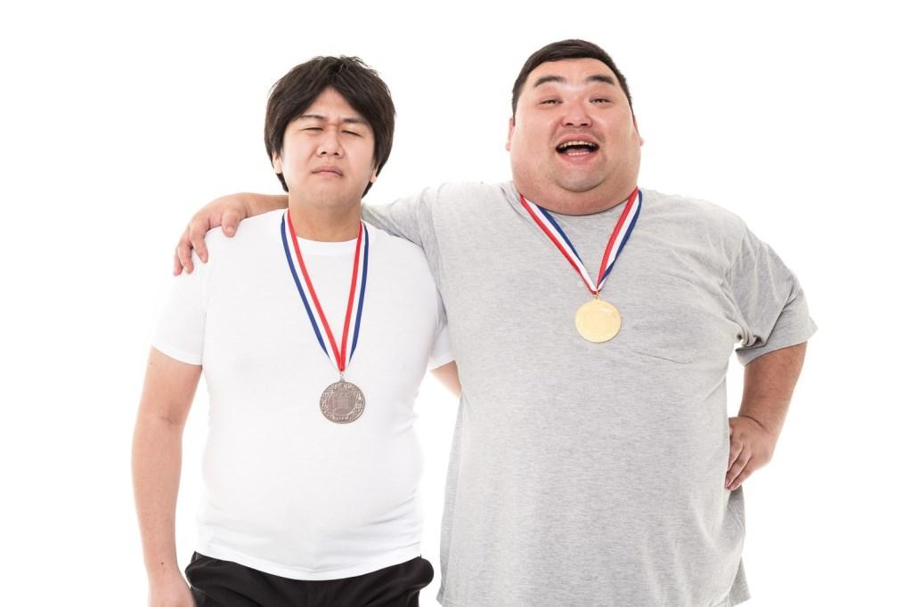 金メダルの男性