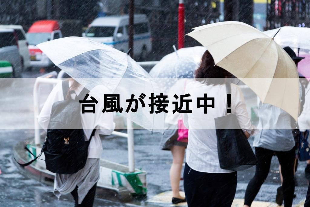 傘を差している人たち