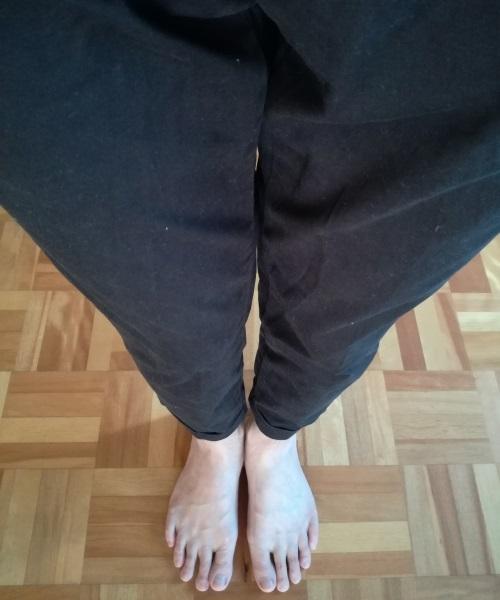 足首まであるハーフパンツ