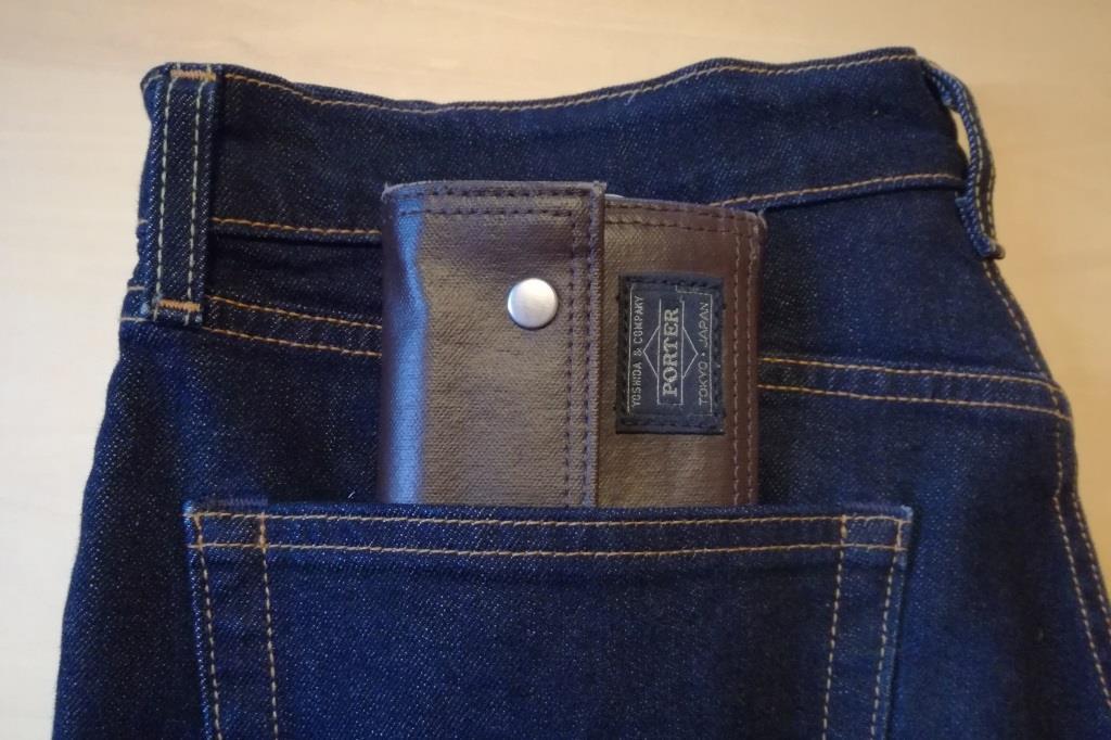 ポケットに入っている長財布